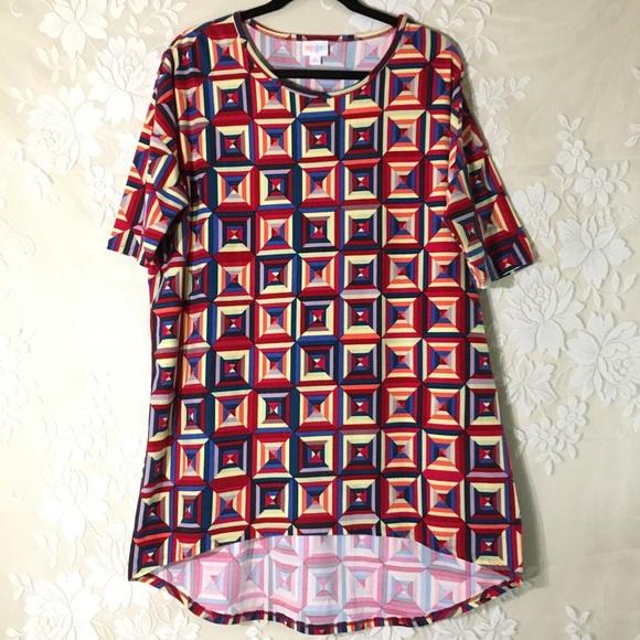 LuLaRoe Tops - LuLaRoe Geometric Print Irma Tunic Shirt